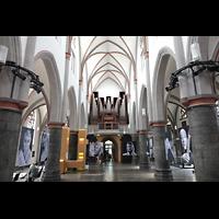 Mönchengladbach, Citykirche (Positiv), Innenraum in Richtung Orgel