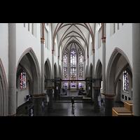 Mönchengladbach, Citykirche (Positiv), Blick von der Orgelempore in die Kirche