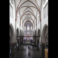 Mönchengladbach, Citykirche (Positiv), Innenraum in Richtung Chor