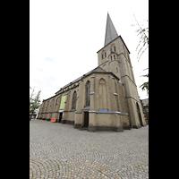 Mönchengladbach, Citykirche (Positiv), Außenansicht mit Kirchplatz von Nordwesten