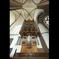 Willich - Anrath, St. Johannes Baptist, Orgel mit Blick ins Gewölbe