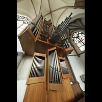 Willich - Anrath, St. Johannes Baptist, Orgel perspektivisch seitlich