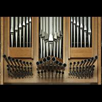 Willich - Anrath, St. Johannes Baptist, Prospektpfeifen mit Spanischen Trompeten