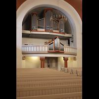Berlin (Reinickendorf), Dorfkirche Alt Tegel (ev.) - Positiv, Orgel seitlich