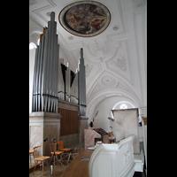 Weilheim, Mariae Himmelfahrt, Orgel mit Rückpositiv