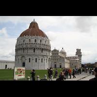 Pisa, Duomo di Santa Maria Assunta (Hauptorgel), Baptisterium und Dom