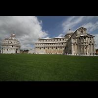 Pisa, Duomo di Santa Maria Assunta (Hauptorgel), Dom und Baptisterium, Seitenansicht