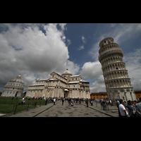 Pisa, Duomo di Santa Maria Assunta (Hauptorgel), Ensemble Baptisterium, Dom und schiefer Turm
