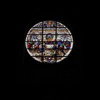 Siena, Cattedrale, Fensterrosette in der Fassade von Duccio di Buoninsegna