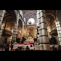 Siena, Cattedrale, Vierungs- und Chorraum mit Orgeln
