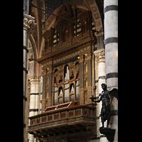 Siena, Cattedrale, Orgel auf der Epistelseite