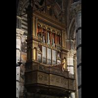 Siena, Cattedrale, Orgel auf der Evangelienseite