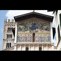 Lucca, Basilica di San Frediano, Fassaden-Mosaik und Campanile