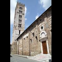 Lucca, Basilica di San Frediano, Seitenansicht mit Turm