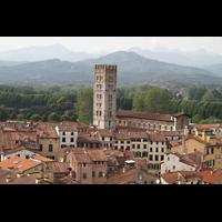Lucca, Basilica di San Frediano, Blick vom Torre Giungini zur Basilika