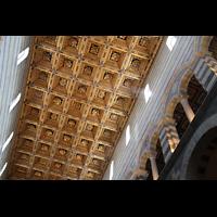 Pisa, Duomo di Santa Maria Assunta (Hauptorgel), Decke im Hauptschiff