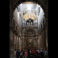 Pisa, Duomo di Santa Maria Assunta (Hauptorgel), Nördliches Querhaus mit Altar des heiligen Ranieri
