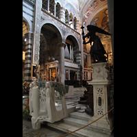 Pisa, Duomo di Santa Maria Assunta (Hauptorgel), Blick zur Evangelienorgel