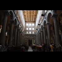 Pisa, Duomo di Santa Maria Assunta (Hauptorgel), Innenraum / Hauptschiff in Richtung Westen