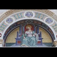 Pisa, Duomo di Santa Maria Assunta (Hauptorgel), Tympanon über dem Portal des Baptisteriums
