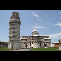 Pisa, Duomo di Santa Maria Assunta (Hauptorgel), Schiefer Turm und Dom von Osten