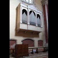 Modena, Chiesa di San Domenico, Orgel auf der Evangelienseite