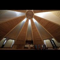Torino (Turin), Chiesa del S. Volto (Concattedrale), Innenraum / Hauptschiff in Richtung Orgel