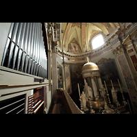 Bergamo, San Alessandro della Croce, Blick von der Orgel in den Chorraum