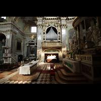 Bergamo, San Alessandro della Croce, Chorraum mit Orgel