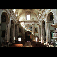 Bergamo, San Alessandro della Croce, Innenraum / Hauptschiff in Richtung Rückwand