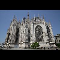 Milano (Mailand), Duomo di Santa Maria Nascente, Querhaus und Chor von außen