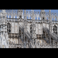Milano (Mailand), Duomo di Santa Maria Nascente, Oberer Teil des Seitenschiffs