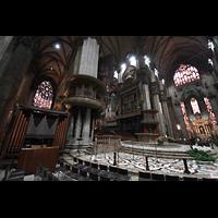 Milano (Mailand), Duomo di Santa Maria Nascente, Blick von der Chororgel zum SüdQuerhaus