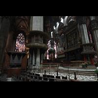 Milano (Mailand), Duomo di Santa Maria Nascente, Vierungsraum mit Chororgel