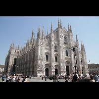 Milano (Mailand), Duomo di Santa Maria Nascente, Seitenansicht außen