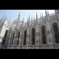 Milano (Mailand), Duomo di Santa Maria Nascente, Nördliches Seitenschiff mit Fialen