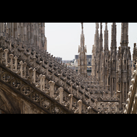 Milano (Mailand), Duomo di Santa Maria Nascente, Strebepfeiler über dem nördlichen Seitenschiff