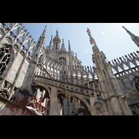 Milano (Mailand), Duomo di Santa Maria Nascente, Strebepfeiler und Turm