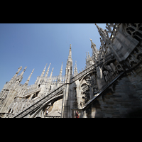 Milano (Mailand), Duomo di Santa Maria Nascente, Fialen auf dem nördlichen Seitenschiff