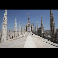 Milano (Mailand), Duomo di Santa Maria Nascente, Begehbares Dach (Terrazza) mit Marmorfliesen