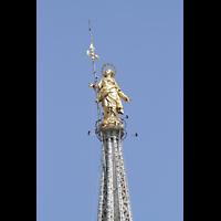 Milano (Mailand), Duomo di Santa Maria Nascente, Die goldene Madonna auf dem Turm ('Madonnina')