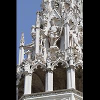 Milano (Mailand), Duomo di Santa Maria Nascente, Turmansatz mit Figuren