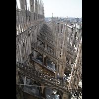 Milano (Mailand), Duomo di Santa Maria Nascente, Strebewerk des nördlichen Seitenschiffs