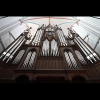 Schwerin, Dom St. Maria und St. Johannes, Orgelprospekt perspektivisch