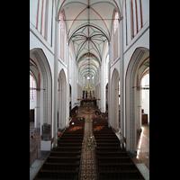 Schwerin, Dom St. Maria und St. Johannes, Blick von der Orgelempore ins Hauptschiff