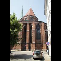 Schwerin, Dom St. Maria und St. Johannes, Chor von außen