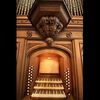 Berlin (Tiergarten), Musikinstrumentenmuseum - Gray-Orgel, Spieltisch der Gray-Orgel