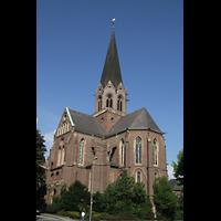 Dortmund (Hörde), Stiftskirche St. Clara, Kirche von außen aus Chorrichtung
