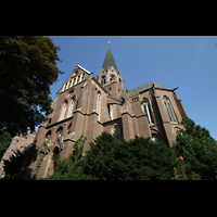 Dortmund (Hörde), Stiftskirche St. Clara, Querhaus, Chor und Turm von außen