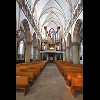 Dortmund (Hörde), Stiftskirche St. Clara, Hauptschiff / Innenraum in Richtung Orgel